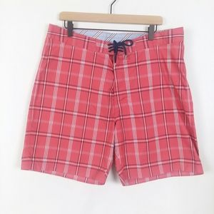 Brooks Brothers plaid board shorts swim trunks